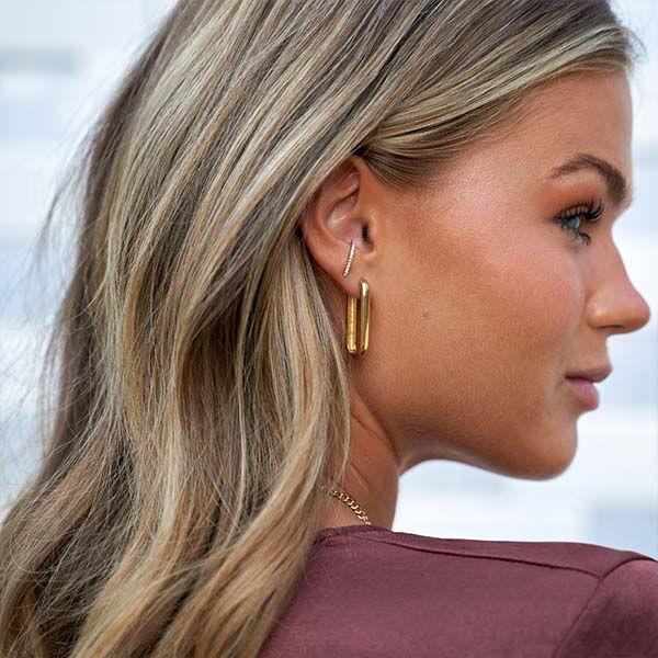 Korting Eline Rosina Complete your look oorbellen Goud