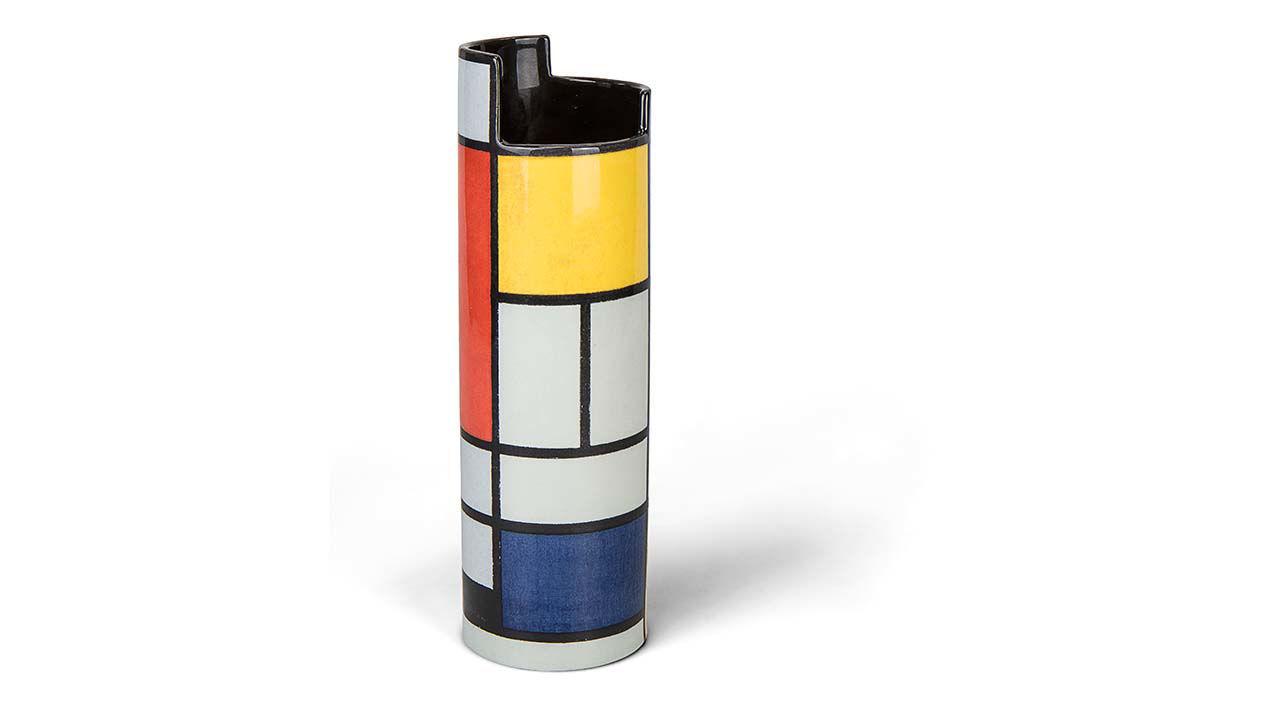 Product afbeelding: Piet Mondriaan keramische vaas 'Compositie'