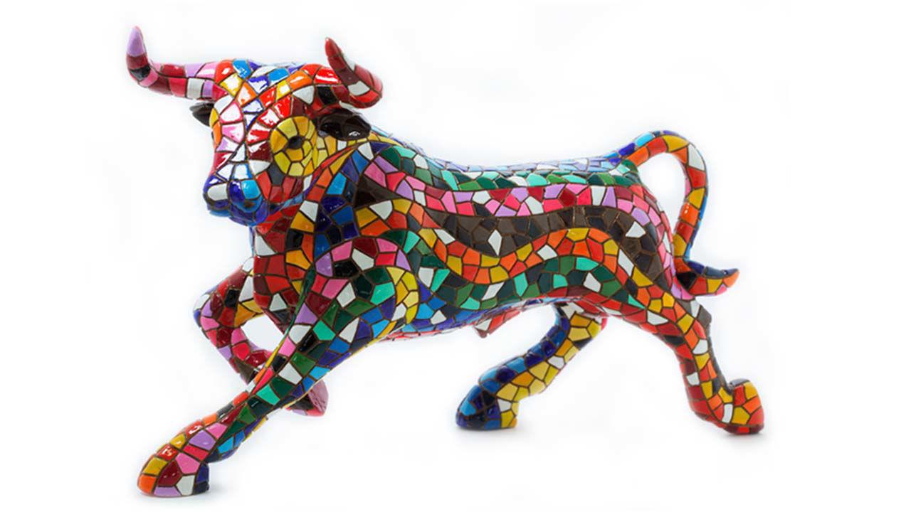 Product afbeelding: Mozaïek figuur 'El Toro Mosaico'