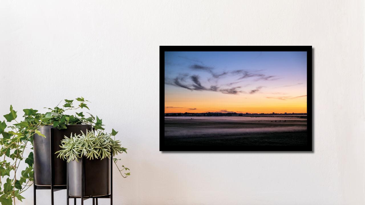 Product afbeelding: Fotoprint Mist boven een weiland