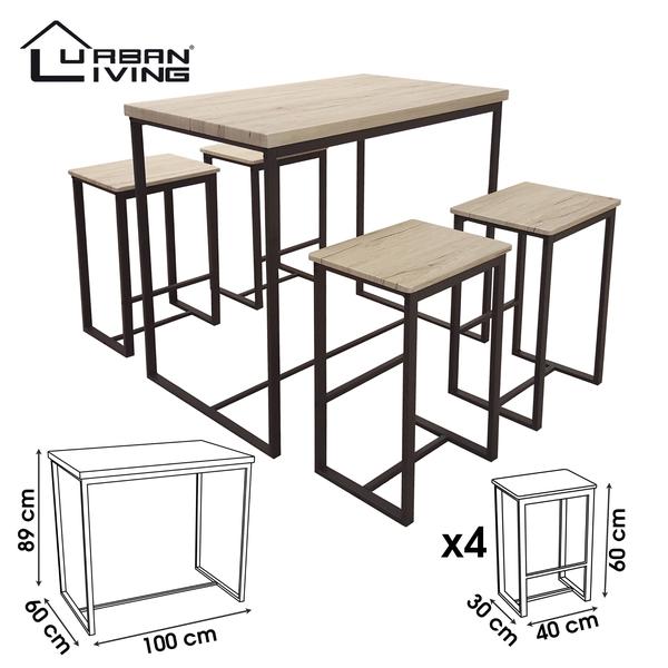 Product afbeelding: Urban Living - Hoge tafel met 4 krukken